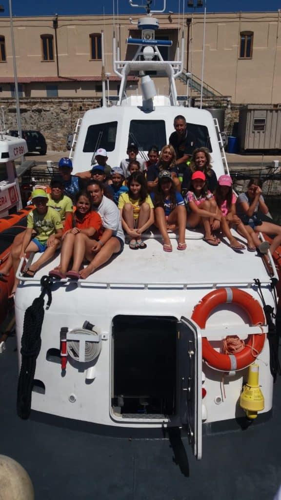 Cerveteri, i ragazzi del Campo Scuola ProCiv ospiti della Capitaneria di Porto di Civitavecchia