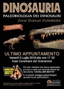 Cerveteri, Festa finale domani per 'Dinosauria – Paleobiologia dei Dinosauri'
