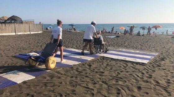 Cerveteri, spiagge pubbliche totalmente accessibili ai disabili