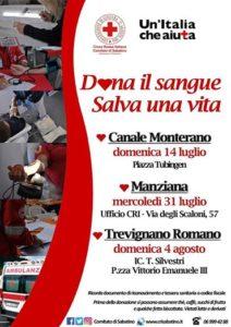 Comitato Sabatino Croce Rossa Italiana: ''Domani Dona il Sangue e Salva una Vita''