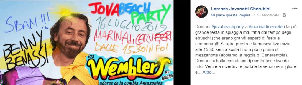 """Cerveteri, Jova Beach Party. Jovanotti: """"Sarà la più grande festa in spiaggia mai fatta dal tempo degli etruschi"""""""