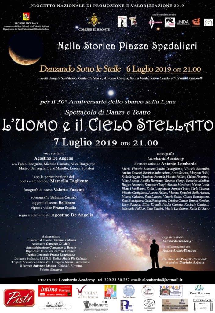 """Bronte e lo spettacolo """"L'uomo e il Cielo Stellato"""", regia Agostino de Angelis"""