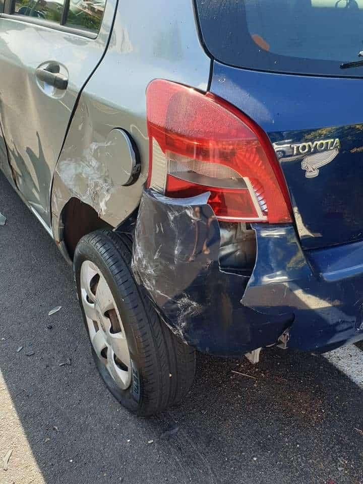 Valcanneto, macchina tamponata violentemente da un vandalo della strada