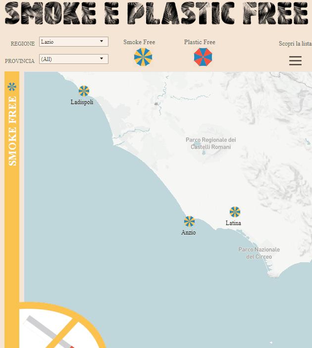 No smoke in spiaggia, Ladispoli tra i 21 comuni italiani