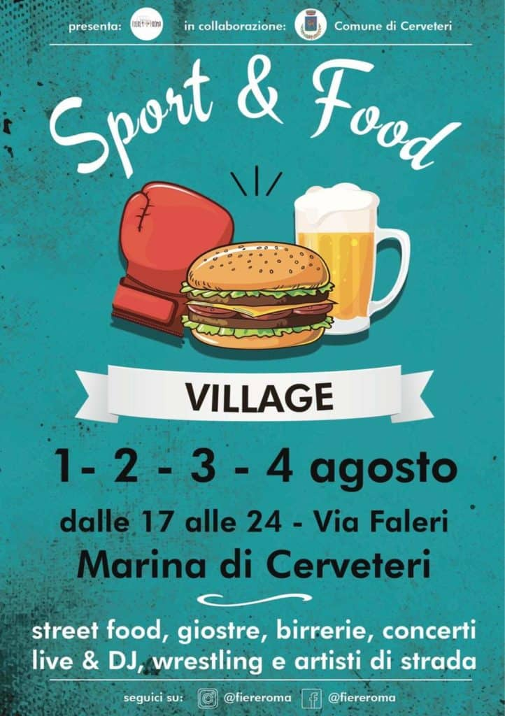 """Sport e Food Village"" approda a Marina di Cerveteri"