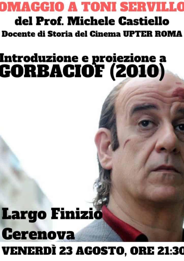 """Cerenova, il professor Michele Castiello omaggia Toni Servillo con """"Gorbaciof"""""""