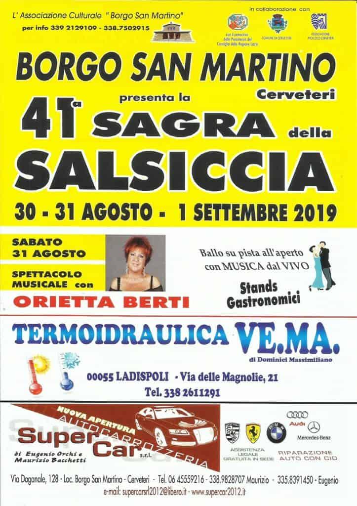 Parte la Sagra della Salsiccia a Borgo San Martino