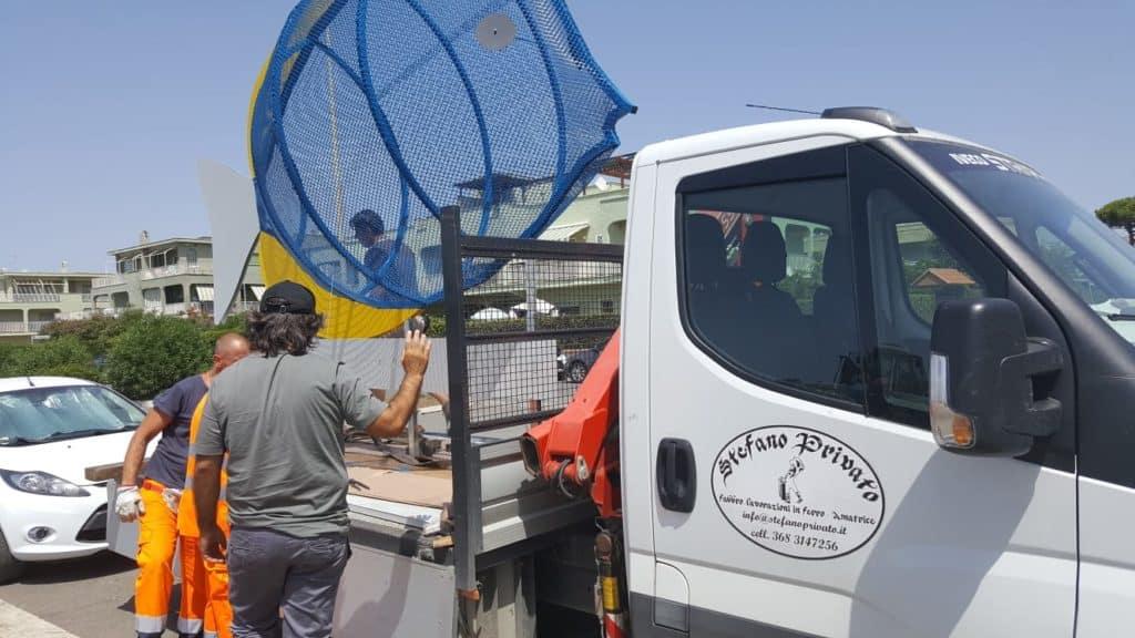 """Campo di Mare, un """"mega pesce"""" e nuove mini-isole ecologiche per spiagge Plastic Free"""