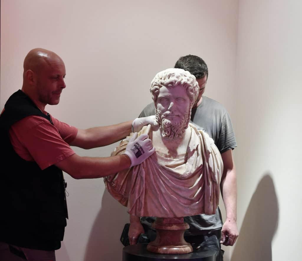 """Il Busto ritrovato di Settimio Severo alla mostra """"Roma Universalis"""""""
