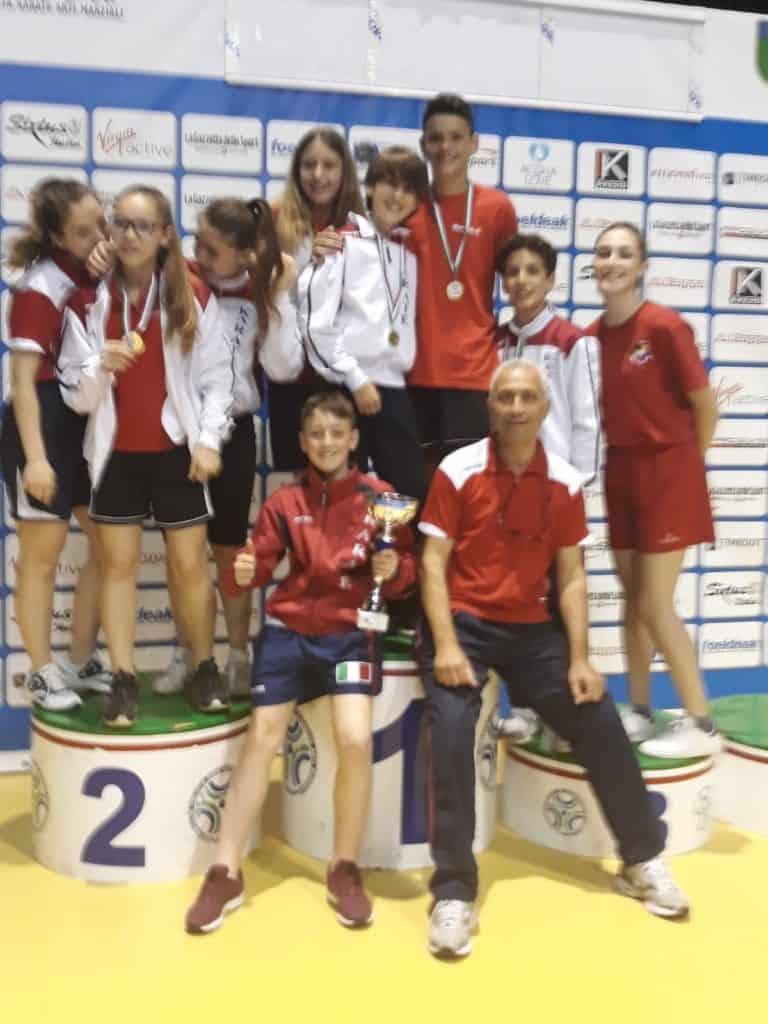 L'asd Team karate Ladispoli primeggia alle qualificazioni del Trofeo CONI
