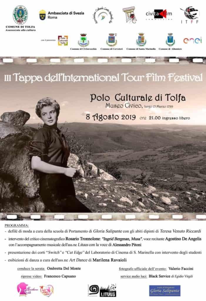 Tolfa, domani la terza tappa dell'International Tour Film Festival