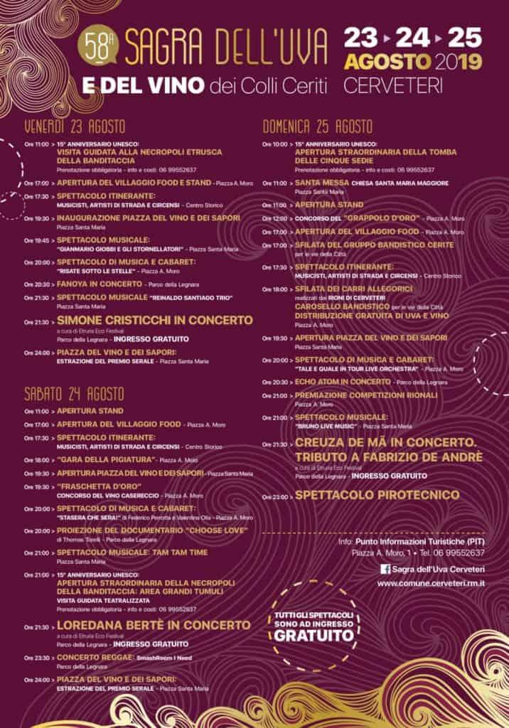 Cerveteri, è la settimana della Sagra dell'Uva e del Vino e di Etruria Eco Festival