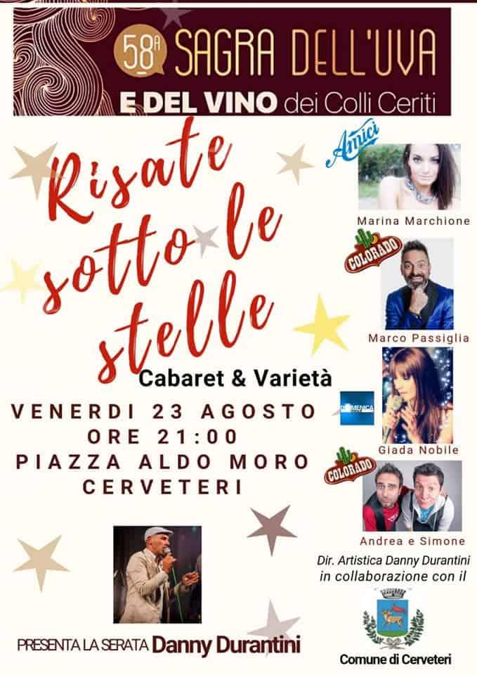 """Sagra dell'Uva, in Piazza Aldo Moro """"Risate sotto le Stelle"""", Federico Perrotta Show e """"Tale e Quale live orchestra"""""""