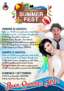 Fine settimana ricco di eventi a Ladispoli col Summer Festival