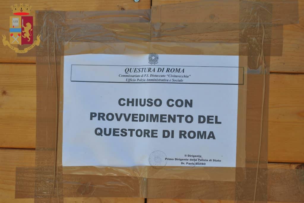Civitavecchia: sospesa la licenza a un chiosco