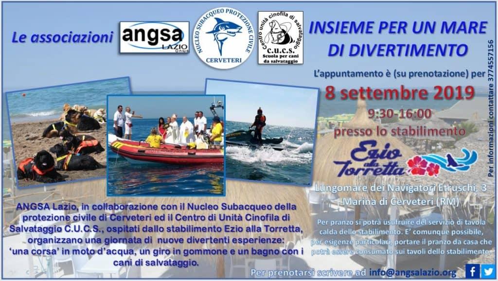 Campo di Mare, moto d'acqua e cani da salvataggio in spiaggia per 'Insieme per un mare di divertimento'