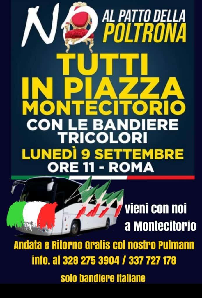 Governo giallo - rosso: lunedì manifestazione di protesta a Montecitorio