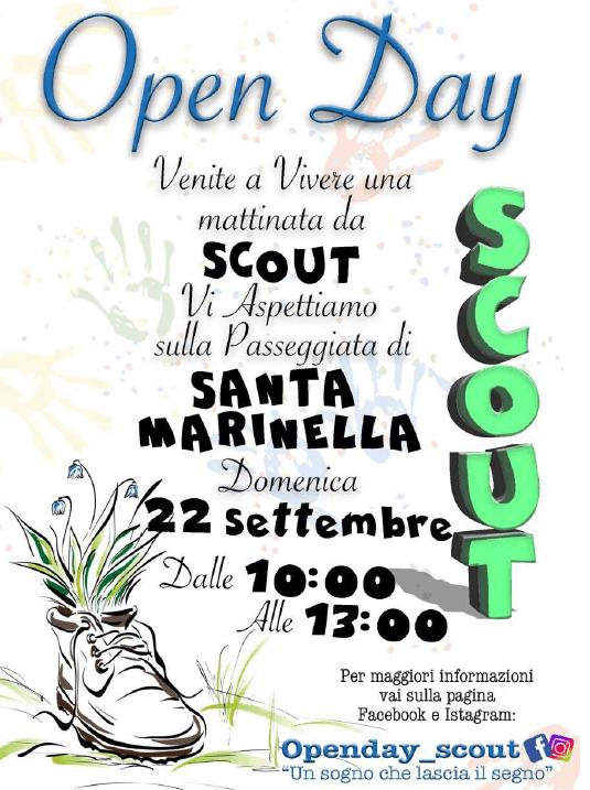 """Open Day Scout – AGESCI Zona """"Etruria"""" a Santa Marinella il 22 Settembre 2019"""