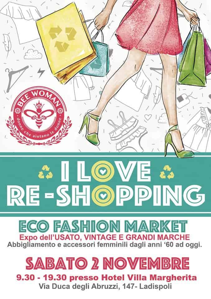 """""""I love re-shopping"""", l'iniziativa originale di Bee Woman"""