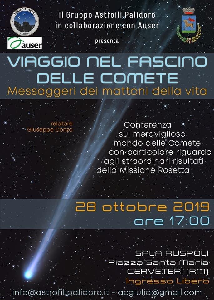 Evento in programma lunedì 28 ottobre nella Sala Ruspoli di Cerveteri, alle ore 17.00