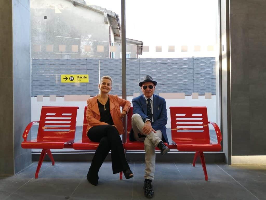 Cerenova, alla Stazione Ferroviaria una panchina rossa