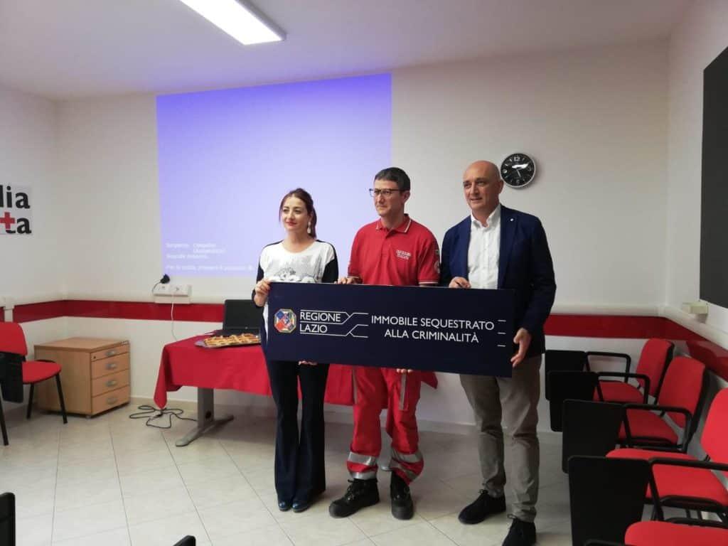 Il presidente della Regione Leodori e Marietta Tidei in visita alla sede della Croce Rossa