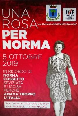 Civitavecchia, sabato 5 ottobre 2019 sarà ricordato il sacrificio di Norma Cossetto