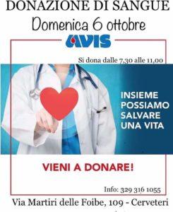 Cerveteri, dona il sangue con Avis: 'Insieme possiamo salvare una vita''