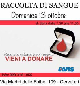 Cerveteri, domenica dona il sangue con Avis: ''Una vita salvata è per sempre''