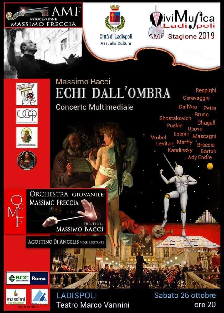 """""""Sabato 26 ottobre sarà la giornata Caravaggio a Ladispoli"""""""
