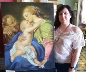 ''L'amministrazione Grando si congratula con la pittrice Felicia Caggianelli vincitrice del concorso 'La tela del mese''