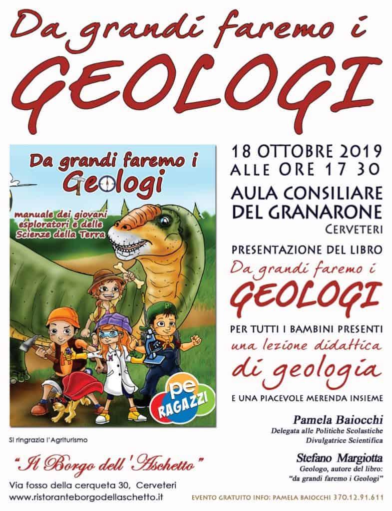 """Cerveteri, bambini: al Granarone il libro """"Da Grandi faremo i Geologi"""""""
