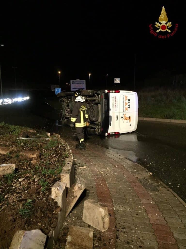 L'incidente è avvenuto fra Via Pecorella e strada Mediana