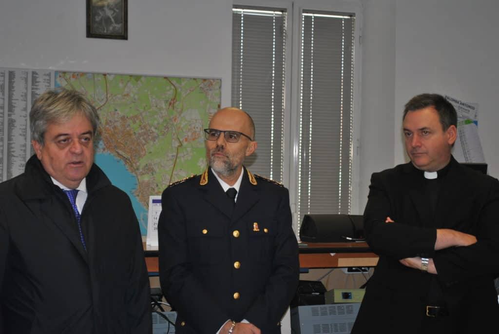 Civitavecchia, il questore di Roma in visita al Commissariato di viale della Vittoria