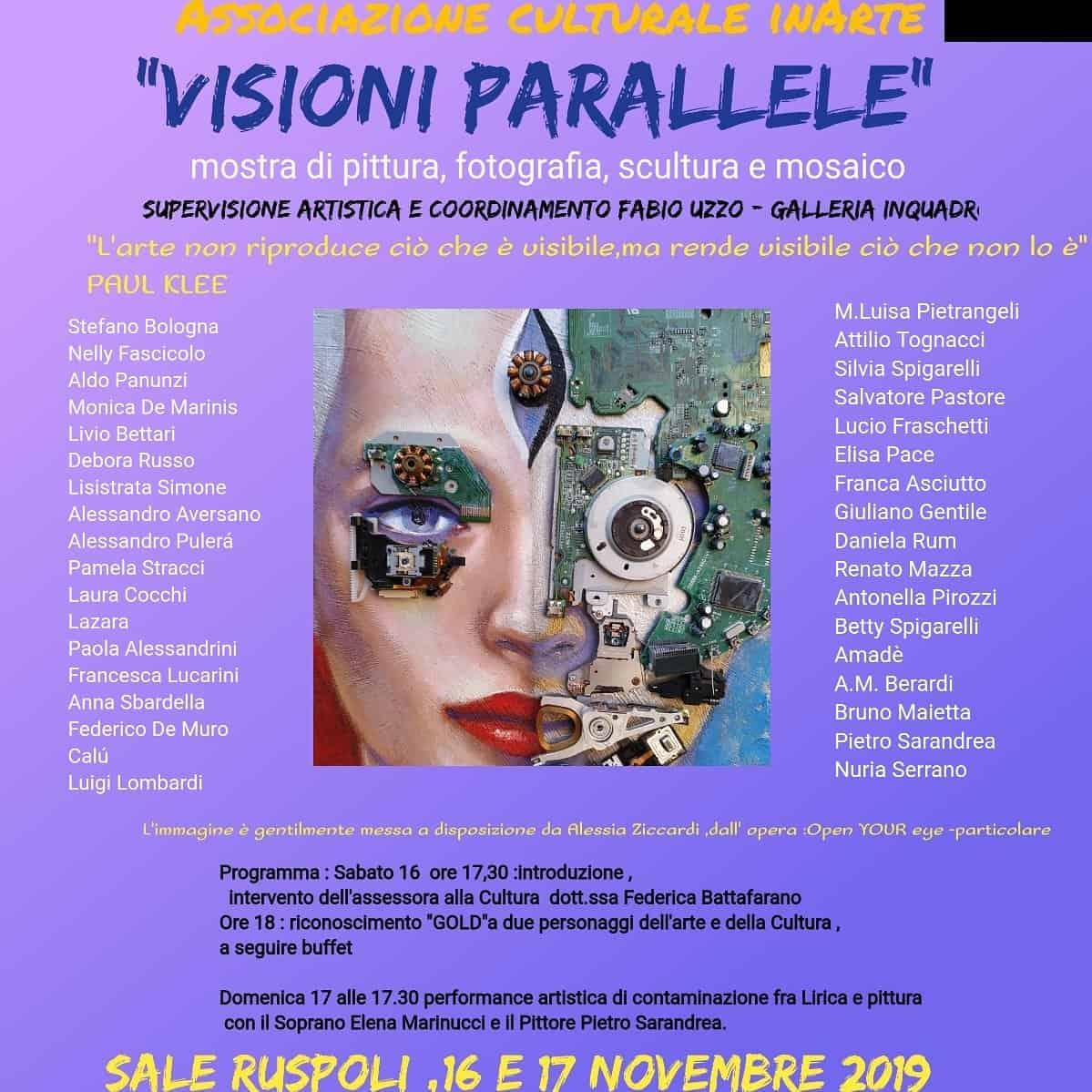 Cerveteri, sabato si inaugura la mostra 'Visioni Parallele' - BaraondaNews