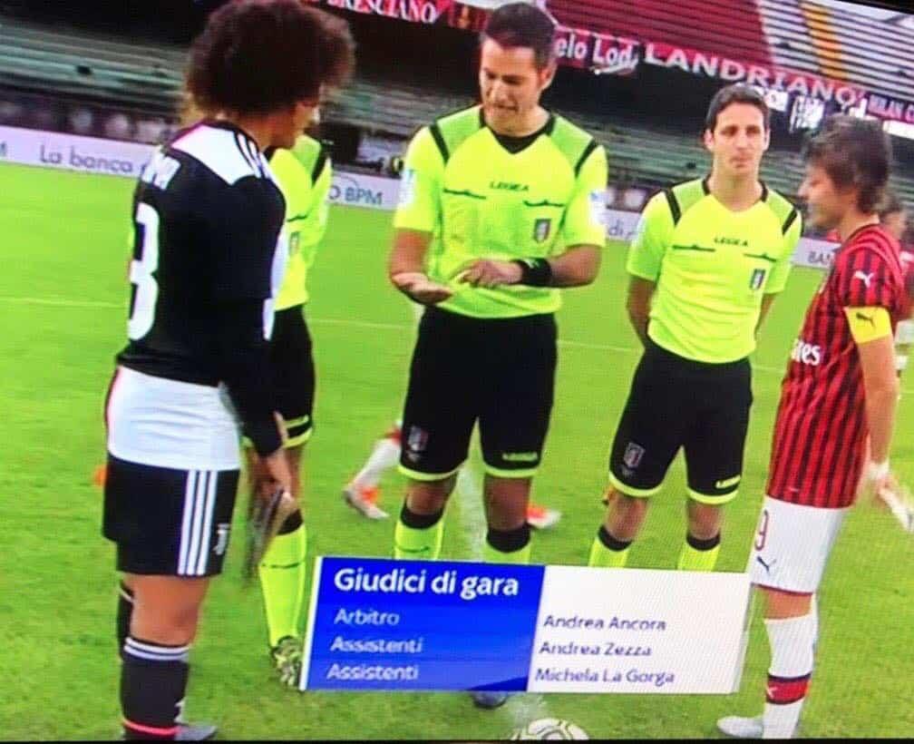 Milan - Juve femminile diretta dall'arbitro ladispolano Andrea Ancora