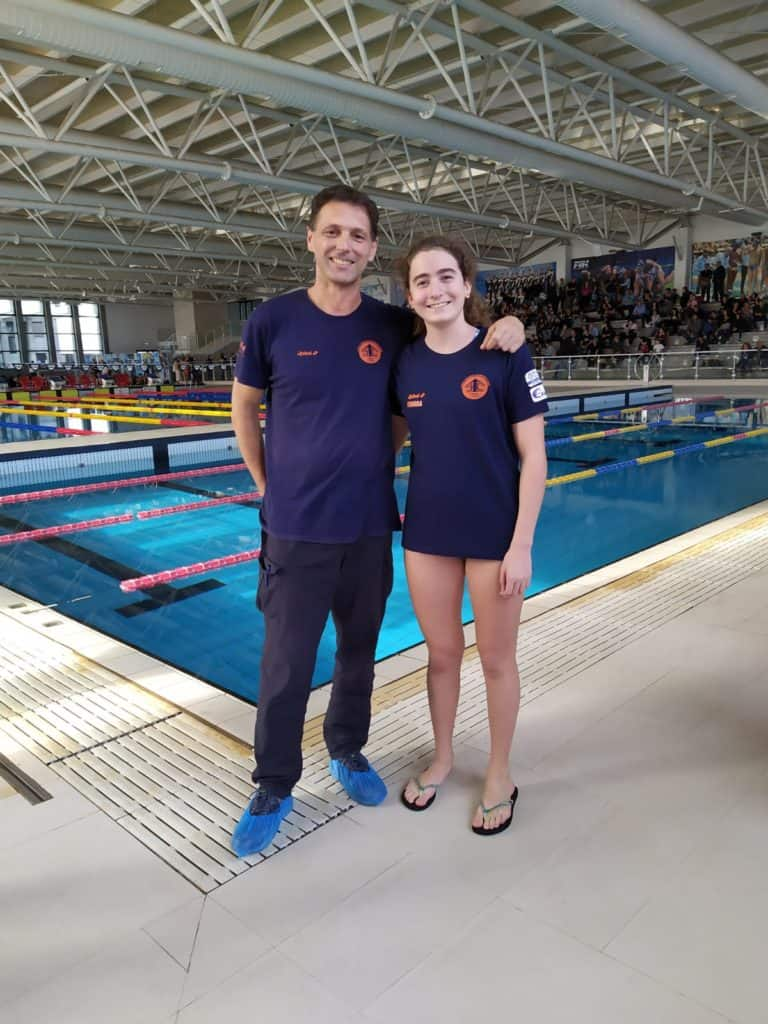 La promessa del nuoto ceretano attualmente al 3° posto nel ranking nazionale nei 50 dorso