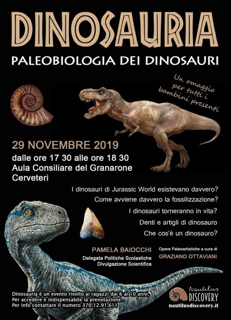 Cerveteri, Divulgazione Scientifica: torna l'appuntamento con i Dinosauri