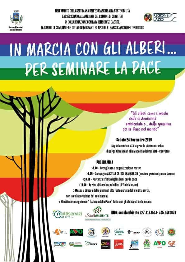 """Cerveteri, """"In marcia con gli alberi… per seminare la Pace"""" - BaraondaNews"""
