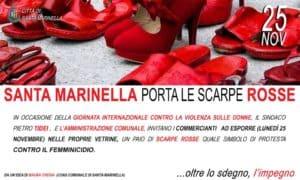 Santa Marinella, scarpe rosse nelle vetrine per la Giornata contro la Violenza sulle donne