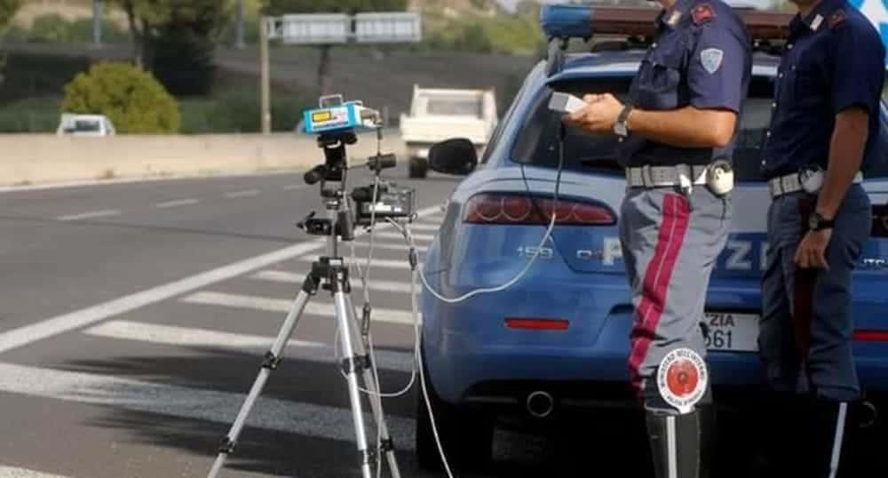 Controllo elettronico della velocità effettuato su diverse strade regionali