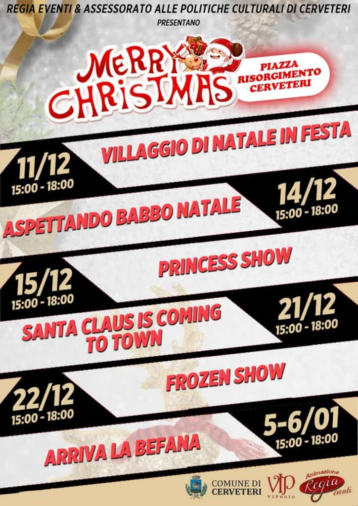 Nei prossimi giorni l'annuncio di altri due imperdibili appuntamenti nel Natale di Cerveteri