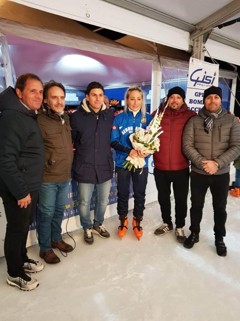 La campionessa del mondo Francesca Lollobrigida all'Ice Park di Ladispoli