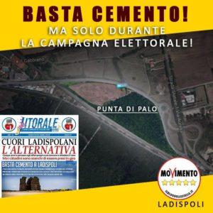 M5S Ladispoli: ''Basta cemento a Ladispoli, ma solo durante la campagna elettorale''