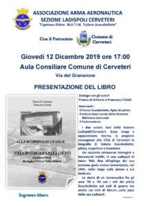 Cerveteri, l'Associazione Arma Aeronautica presenta il libro 'Alla scoperta di un eroe – Valerio Scarabellotto'