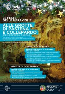 Si accendono le luci sul Natale della Regione Lazio alle Grotte di Pastena e Collepardo