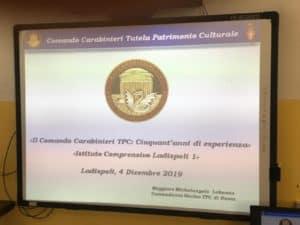 Ladispoli 1 incontra il Maggiore dei Carabinieri del Nucleo del TPC di Roma