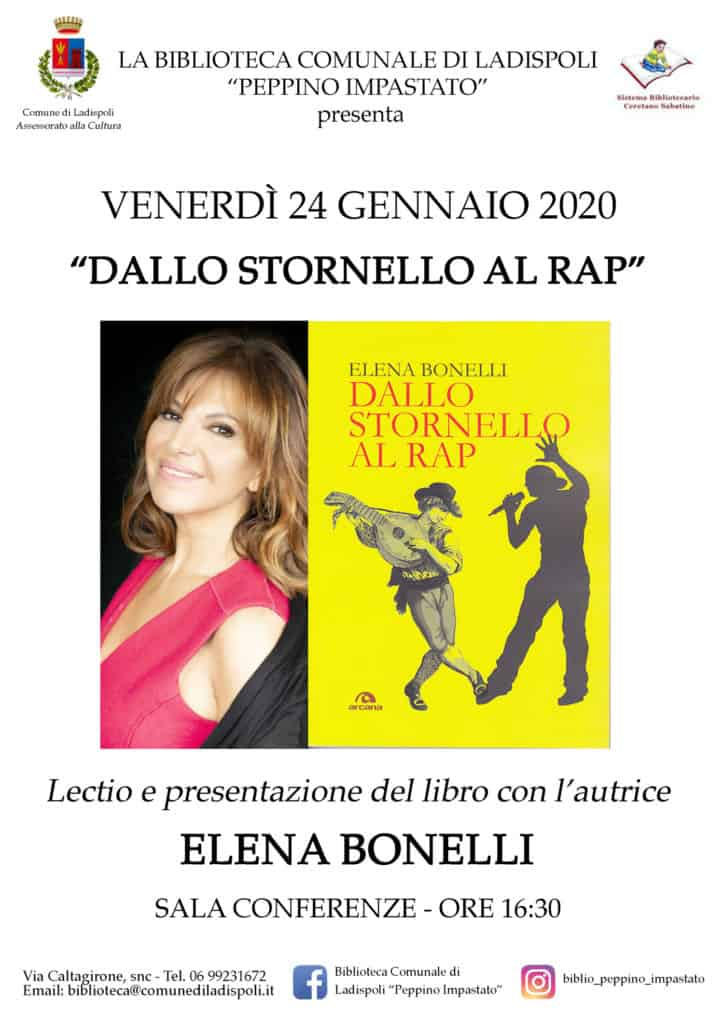 "Ladispoli, in biblioteca ""Dallo stornello al rap"""