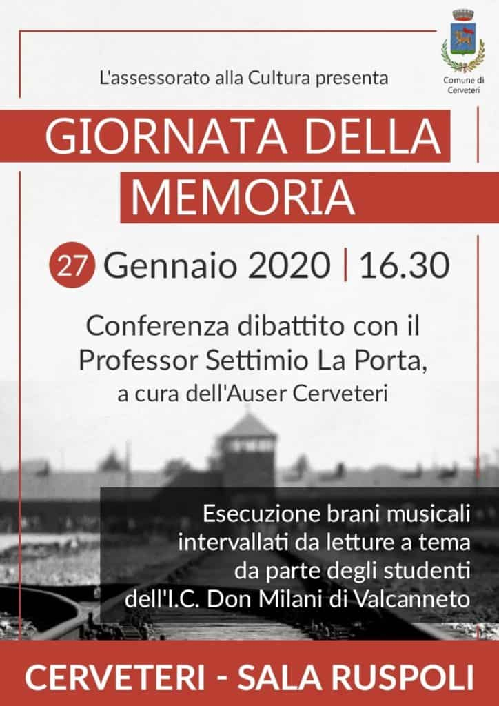 Cerveteri, lunedì con il professor Settimio La Porta conferenza per la Giornata della Memoria