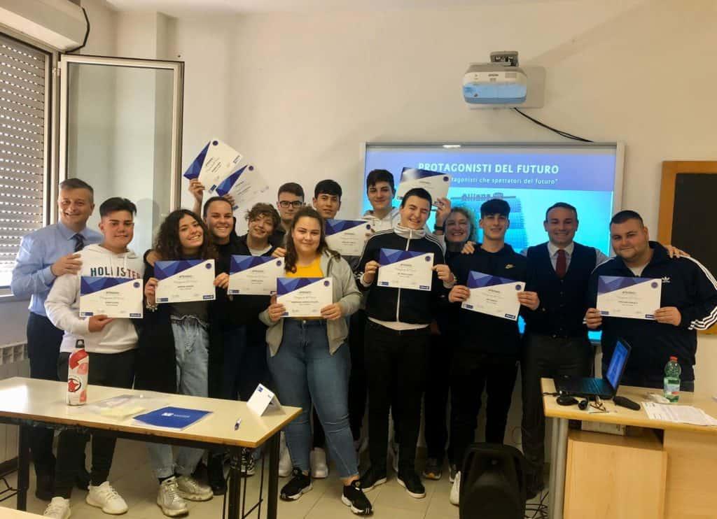 """Gli studenti del Di Vittorio di Ladispoli """"protagonisti del futuro"""" con Allianz Marchese"""